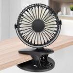 Оригинал Мини-вентиляторсвращениемна360° Батарея / USB аккумуляторная клипса для вентилятора для детской коляски / Спортзал / для офиса / учебы