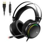 Оригинал Tronsmart Glary Gaming Gaming Stereo Virtual Virtual 304 Colorful Светодиодный Интерфейс USB Наушники для PS4 Xbox Видеоигры