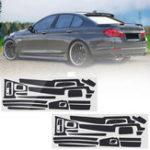 Оригинал Углеродное волокно Шаблон Декор для наклейки на приборную панель салона автомобиля для BMW 5-й серии F10 F18 2011-17