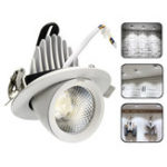 Оригинал 5W 7W 12W 15W 20W 30W LED COB Регулируемый потолочный светильник Лампа Регулируемый прожектор Dowm Светильник для скрытого монтажа