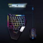 Оригинал Flydigi D1 Scorpion Blue Switch Одноручный Клавиатура для мобильной игры PUBG Мышь Клавиатураs Конвертирование для IOS Android ПК