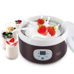 Оригинал 1л мини йогурт машина полностью автоматическая натто рис йогурт умная машина с 4шт стекла Банка