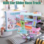 Оригинал Click Clack Racetrack Деревянные дети Авто Slider Race Track Toys Развивающая забавная игрушка