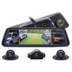 Оригинал Junsun K910 10 дюймов FHD 1080P Octa Core 4G SIM 4-канальный ADAS Android Авто Видеорегистратор GPS WiFi камера