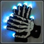 Оригинал Halloween Party Glow LED Перчатки С Джемми Скелетом Волшебный Реквизит