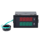 Оригинал DL69-2042 Двойной AC Цифровой Амперметр Вольтметр LCD Панель Ампер / Вольтметр С Задней Чехол