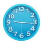 Оригинал 34см Бесшумный Круглый настенный монтируемый кварцевый аналог Часы бело-синяя рамка