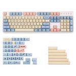 Оригинал West World 153 Key XDA Profile Краситель-колпачок PBT Набор клавиш Полный набор клавиш