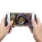 Оригинал Мобильный игровой контроллер Joystick Trigger Shooter Fire Button Assist Инструмент Геймпад для PUBG