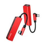 Оригинал Baseus PD 18 Вт USB C OTG Адаптер USB Type C до 3,5 мм Разъем Type-c Aux Audio Коннектор Для Xiaomi mi для 9 Samsung S10 S9