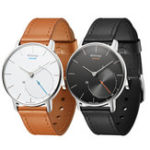 Оригинал 18ммНатуральнаяКожаЧасыСтандартыЛегкая разборка ремешка для часов Withings Smart Watch