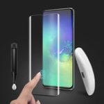 Оригинал BakeeyПолныйКлейПоддержкаУльтразвуковойЗакаленное Отпечатком Закаленное Стекло-Экран Протектор Для Samsung Galaxy S10 3D Изогнутой Краевой Пл