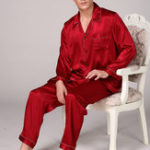 Оригинал Mens Silky Soft Comfy Pajama Set Casual Home Loungewear