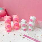Оригинал Новый Squishy Розовый Свинья Мультфильм Soft Cute Animal Squeeze Sound Squeezing называется Slow Rising Decompression Toy