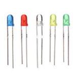 Оригинал 160шт 3мм LED Диод Желтый Красный Синий Зеленый Свет Ассортимент DIY Набор