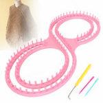 Оригинал РозовыйКруглыйВязаниеВязаниеРемеслоИнструмент Набор для Свитера Носок Шарф Шапка Loom Ring