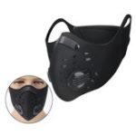 Оригинал Фильтр с активированным углем Face Маска Анти Dust Haze Bicycle Riding Black