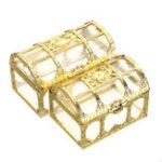 Оригинал Сундук с сокровищами Ювелирные Изделия Коробка Crystal Gem Хранения Органайзер Мини Чехол Подарки На День Рождения