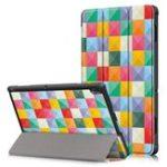 Оригинал Tri-Fold Печатный планшет Чехол Крышка для планшета Lenovo Tab E10 – Cubicity