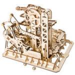 Оригинал 3D Самосборка Ручной Деревянный Мраморный Run Waterwheel Волшебный Crash Puzzle Строительные Наборы Механический Модель Подарок