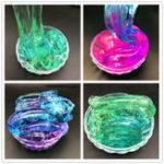Оригинал 280мл Многоцветная слизь DIY Цветной пластилин Цветовая градиентная градиентная грязь