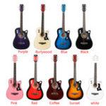 Оригинал 38 дюймов 6-струнная акустическая гитара Деревянная гитара для начинающих с гитарой Сумка / Pick / Strap / Pipe