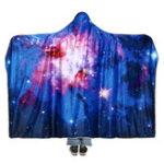 Оригинал 150×200смЗвездноеSkyОдеяласкапюшоном Носить Soft Зимняя покрывала Хэллоуин