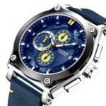 Оригинал MEGIR2098СпортивныйхронографДатаКожа Мужские кварцевые часы