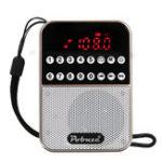 Оригинал ЖК-цифровой FM-карман Радио Динамик USB TF-карта MP3-плеер