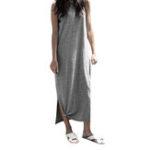 Оригинал S-5XL Women Casual Solid Color Sleeveless Dress
