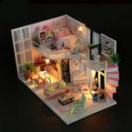 Оригинал Hoomeda M035 DIY Кукла Мелодия Дома Анны Розовый Мелодия С Обложкой Музыка Движение 28см Подарочные игрушки Декор