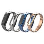 Оригинал Mijobs Classic Металлические наручные часы с тремя бусинами Стандарты для Xiaomi mi band 2 Smart Watch