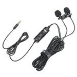 Оригинал BOYA BY-M1DM Broadcast Omnidirectional Collar Dual-Head Lavalier Reverse Clip-on Wired Mic Microphone for Mobile PC Camera