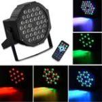 Оригинал RGB Дистанционное Управление с голосовой активацией 36 LED Stage Light Party Дискотека KTV Пар Лампа AC90V-240V
