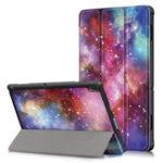 Оригинал Tri-Fold Печатный планшет Чехол Чехол для планшета Lenovo Tab E10 – галактика Млечный путь
