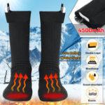 Оригинал 3.7V 4500MAH Двухслойный электрический обогрев Носки Подогреваемый подъемник Носки Аккумуляторная Батарея Грелка для ног Чулки