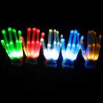 Оригинал LED Постоянно мигающий светится подсветка пальцевых перчаток Xmas Dance Party Cosplay