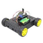 Оригинал ВерсияBluetoothControlC4004WDСмарт-шасси Авто DIY Дистанционное Управление Набор для Arduino с модулем Bluetooth + плата UNO R3 + плата драйвера двигателя