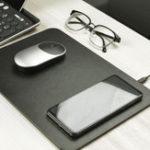 Оригинал Xiaomi MIIIW Qi Беспроводное зарядное устройство из искусственной кожи Мышь Pad для iPhone Samsung Xiaomi Huawei