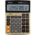 Оригинал Deli 1542A Calculator Business Office Household Computer Voice Large Screen Financial Calculator