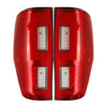Оригинал Авто LED Задний задний фонарь в сборе, красный для FORD RANGER RAPTOR T6/T7 / PX / MK1/MK2 / WILDTRAK 2012-2019