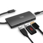 Оригинал Kawau H331 Type-C для 2-портового USB 3.0 USB-C PD 3.0 Зарядка 4K Дисплей Концентратор