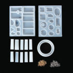 Оригинал 413Pcs Ювелирные изделия Кулон Плесень Craft Силиконовый Смола Плесень Ожерелье Кулон DIY