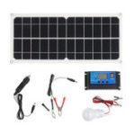 Оригинал 10 Вт 12 В 5V USB Солнечная Панельное зарядное устройство Монокристаллическая гибкая система освещения ячеистого генератора с контроллером 10A