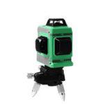 Оригинал 12 Lines 3D Лазер Уровень Самовыравнивающийся 360 Горизонтальный и вертикальный крестик Супер мощный зеленый Лазер Линия луча (зеленая)