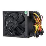 Оригинал 1000 Вт ПК Компьютер Питания Тихий 140 мм Зеленый LED Вентилятор 24Pin SATA 6Pin 8Pin