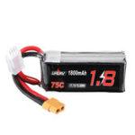 Оригинал URUAV 11,1 В 1800 мАч 75C 3S Lipo Батарея XT60 Разъем для FPV RC Дрон
