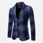 Оригинал Mens Plaid Модный пиджак пиджака