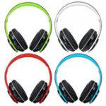 Оригинал Складная Bluetooth 5.0 Беспроводная гарнитура Наушник Поддержка FM Stereo Радио Для планшетного мобильного телефона
