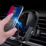 Оригинал Беспроводное Авто зарядное устройство для телефона Air Vent Holder Mount для iPhone xsmax 8 S9